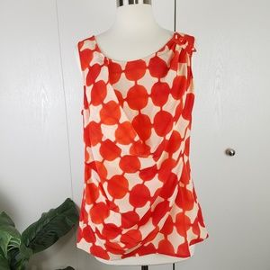 Anthropologie Maeve sleeveless silk blouse size 10